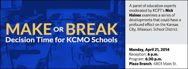 A panel of education experts moderated by KCPT's Nick Haines examines a series of developments that could have a profound effect on the Kansas City, Missouri, School District.