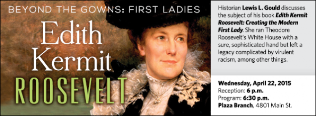 Historian Lewis L. Gould discusses the subject of his book Edith Kermit Roosevelt: Creating the Modern First Lady. She ran Theodore Roosevelt's White House with a sure, sophisticated hand but left a legacy complicated by virulent racism, among other things.