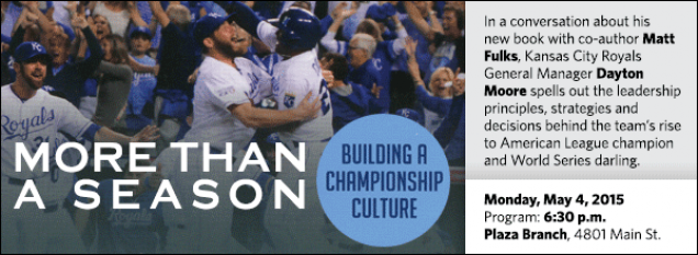 In a conversation about his  new book with co-author Matt Fulks, Kansas City Royals General Manager Dayton Moore spells out the leadership principles, strategies and decisions behind the team's rise to American League champion and World Series darling.