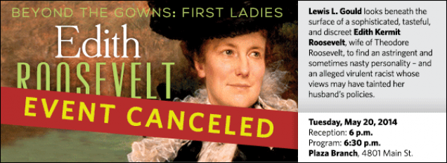 Lewis L. Gould looks beneath the surface of a sophisticated, tasteful, and discreet Edith Kermit Roosevelt, wife of Theodore Roosevelt, to find an astringent and sometimes nasty personality – and an alleged virulent racist whose views may have tainted her husband's policies.