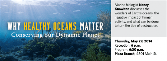 Smithsonian marine biologist Nancy Knowlton discusses the wonders of Earth's oceans, the negative impact of human activity, and what can be done to turn the tide of destruction.