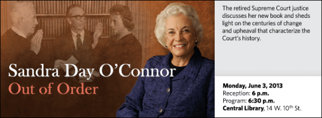 The retired Supreme Court justice discusses her new book and sheds light on the centuries of change and upheaval that characterize the Court's history.