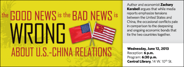 Author and economist Zachary Karabell argues that while media reports emphasize tensions between the United States and China, the occasional conflicts pale in comparison to the deepening and ongoing economic bonds that tie the two countries together.