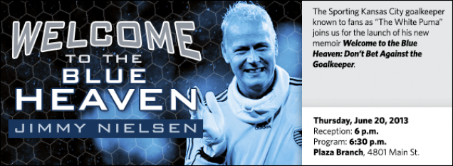 "The Sporting Kansas City goalkeeper known to fans as ""The White Puma"" joins us for the launch of his new memoir Welcome to the Blue Heaven: Don't Bet Against the Goalkeeper."
