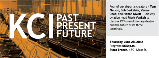 Four of our airport's creators – Tom Nelson, Bob Berkebile, Vernon Reed, and Hanan Kivett  – join city aviation head Mark VanLoh to discuss KCI's revolutionary design and the future of its three terminals.
