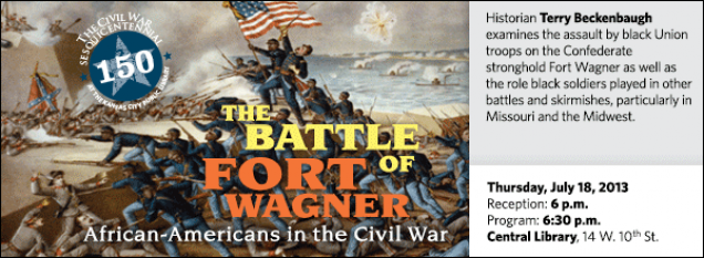 Historian Terry Beckenbaugh examines the assault by black Union troops on the Confederate stronghold Fort Wagner as well as the role black soldiers played in other battles and skirmishes, particularly in Missouri and the Midwest.