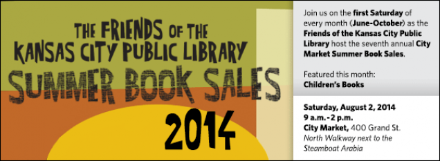 Join us on the first Saturday of every month (June-October) as the Friends of the Kansas City Public Library host the seventh annual City Market Summer Book Sales. Featured this month: Children's Books