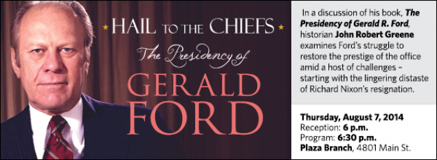 In a discussion of his book, The Presidency of Gerald R. Ford, historian John Robert Greene examines Ford's struggle to restore the prestige of the office amid a host of challenges – starting with the lingering distaste of Richard Nixon's resignation.