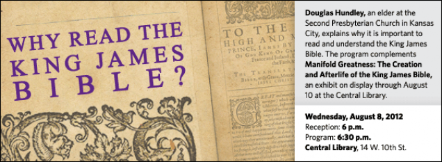 Douglas Hundley - Why Read the King James Bible | Kansas