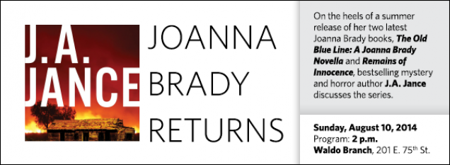 On the heels of a summer release of her two latest Joanna Brady books, The Old Blue Line: A Joanna Brady Novella and Remains of Innocence, bestselling mystery and horror author J.A. Jance discusses the series.