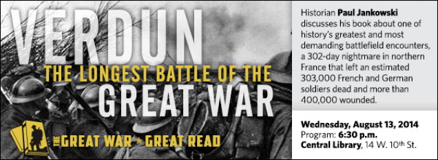 Historian Paul Jankowski discusses his book about one of history's greatest and most demanding battlefield encounters,  a 302-day nightmare in northern France that left an estimated 303,000 French and German soldiers dead and more than 400,000 wounded.