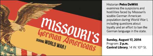 Historian Petra DeWitt examines the suspicions and hostilities faced by Missouri's sizable German American population during World War I, including questions about loyalty and an effort to ban the German language in the state.