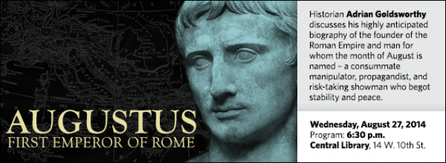 Historian Adrian Goldsworthy discusses his highly anticipated biography of the founder of the Roman Empire and man for whom the month of August is named – a consummate manipulator, propagandist, and risk-taking showman who begot stability and peace.