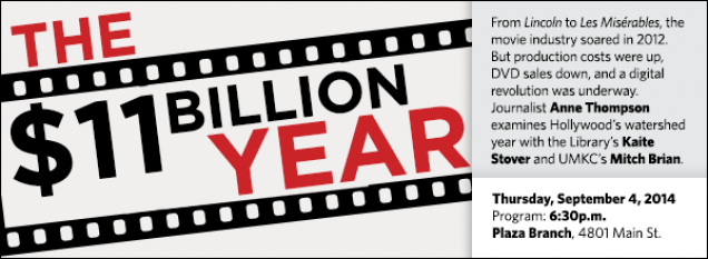 From Lincoln to Les Misérables, the movie industry soared in 2012. But production costs were up, DVD sales down, and a digital revolution was underway. Journalist Anne Thompson examines Hollywood's watershed year with the Library's Kaite Stover and UMKC's Mitch Brian.