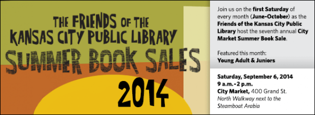 Join us on the first Saturday of every month (June-October) as the Friends of the Kansas City Public Library host the seventh annual City Market Summer Book Sale. Featured this month: Young Adult & Juniors