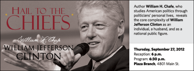 Author William H. Chafe, who studies American politics through politicians' personal lives,  reveals the core complexity of William Jefferson Clinton as an individual, a husband, and as a national public figure.