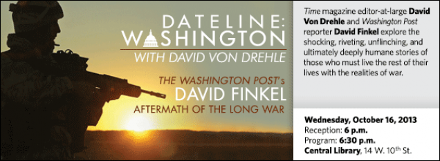 Time magazine editor-at-large David Von Drehle and Washington Post reporter David Finkel explore the shocking, riveting, unflinching, and ultimately deeply humane stories of those who must live the rest of their lives with the realities of war.