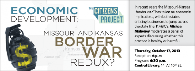 "In recent years the Missouri-Kansas ""border war"" has taken on economic implications, with both states enticing businesses to jump across the state line. KMBC's Micheal Mahoney moderates a panel of experts discussing whether this practice is healthy or harmful."