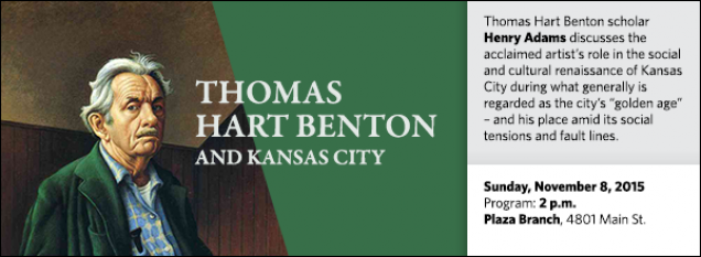 "Thomas Hart Benton scholar Henry Adams discusses the acclaimed artist's role in the social and cultural renaissance of Kansas City during what generally is regarded as the city's ""golden age"" – and his place amid its social tensions and fault lines."