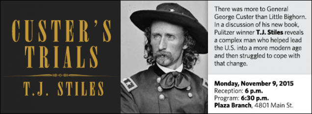 There was more to General George Custer than Little Bighorn. In a discussion of his new book, Pulitzer winner T.J. Stiles reveals a complex man who helped lead the U.S. into a more modern age and then struggled to cope with that change.