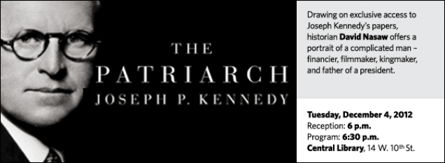 Drawing on exclusive access to Joseph Kennedy's papers, historian David Nasaw offers a portrait of a complicated man – financier, filmmaker, kingmaker, and father of a president.