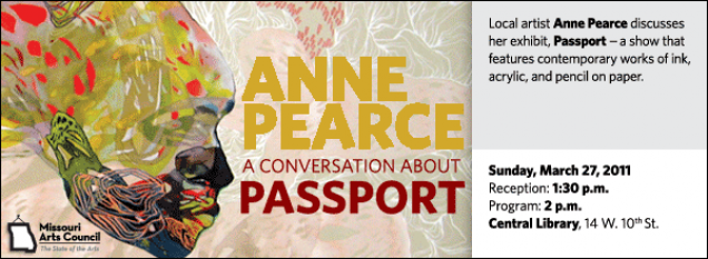 Local artist Anne Pearce discusses her exhibit, Passport -- a show that features contemporary works of ink, acrylic, and pencil on paper.