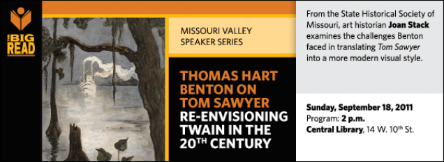 From the State Historical Society of Missouri, art historian Joan Stack examines the challenges Benton faced in translating Tom Sawyer  into a more modern visual style.