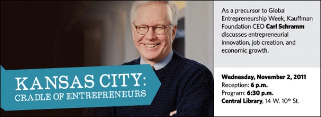 As a precursor to Global Entrepreneurship Week, Kauffman Foundation CEO Carl Schramm discusses entrepreneurial innovation, job creation, and economic growth.