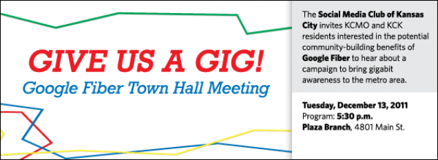 The Social Media Club of Kansas City invites KCMO and KCK residents interested in the potential community-building benefits of Google Fiber to hear about a campaign to bring gigabit awareness to the metro area.