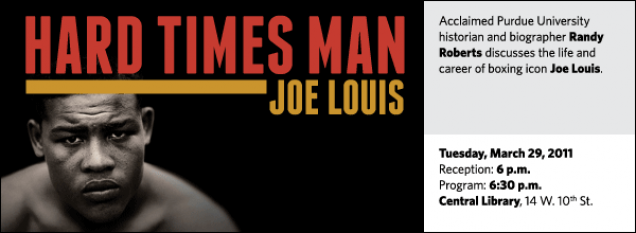 Acclaimed Purdue University historian and biographer Randy Roberts discusses the life and career of boxing icon Joe Louis.