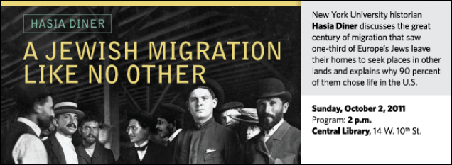 New York University historian Hasia Diner discusses the great century of migration that saw one-third of Europe's Jews leave their homes to seek places in other lands and explains why 90 percent of them chose life in the U.S.