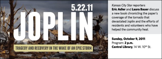 Kansas City Star reporters  Eric Adler and Laura Bauer discuss a new book chronicling the paper's coverage of the tornado that devastated Joplin and the efforts of residents and volunteers who have helped the community heal.