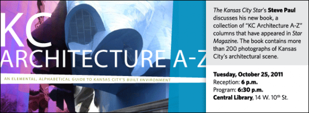 "The Kansas City Star's Steve Paul discusses his new book, a collection of ""KC Architecture A-Z"" columns that have appeared in Star Magazine. The book contains more than 200 photographs of Kansas City's architectural scene."