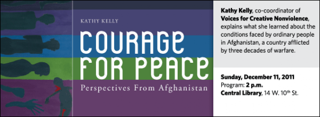 Kathy Kelly, co-coordinator of Voices for Creative Nonviolence, explains what she learned about the conditions faced by ordinary people in Afghanistan, a country afflicted  by three decades of warfare.