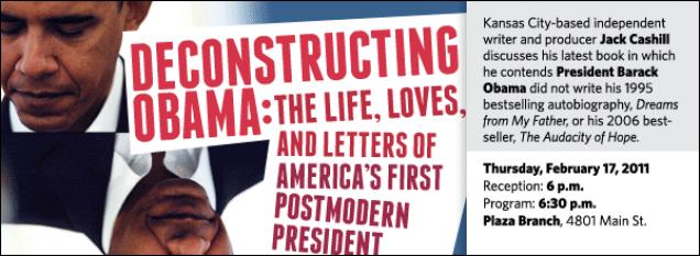 Jack Cashill Deconstructing Obama Kansas City Public Library
