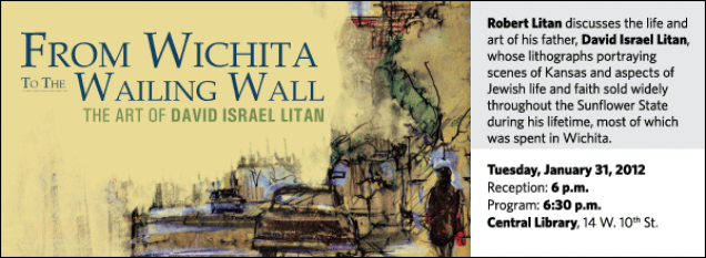Robert Litan discusses the life and art of his father, David Israel Litan, whose lithographs portraying scenes of Kansas and aspects of Jewish life and faith sold widely throughout the Sunflower State during his lifetime, most of which was spent in Wichita.
