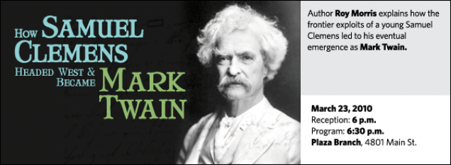 Author Roy Morris explains how the frontier exploits of a young Samuel Clemens led to his eventual emergence as Mark Twain.