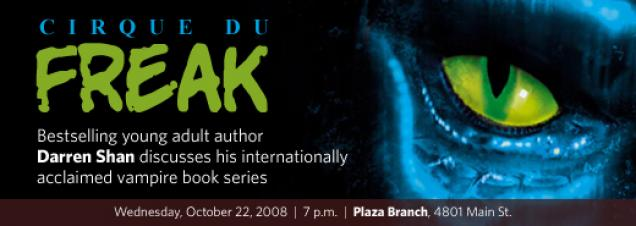 Darren Shan will discuss his extensive body of work