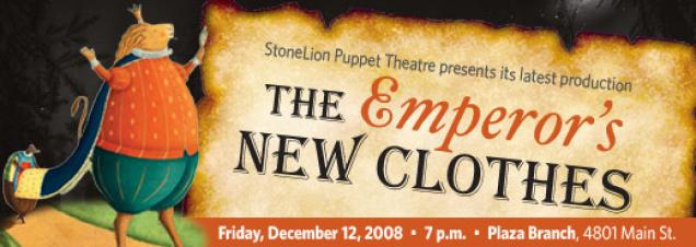 StoneLion Puppet Theatre: The Emperor's New Clothes