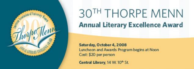 30th Thorpe Menn Annual Literary Excellence Award Luncheon