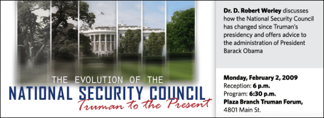 The Evolution of the National Security Council: Truman to Present