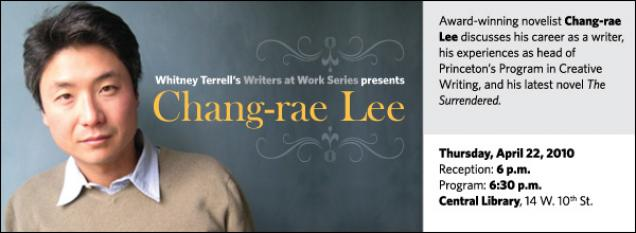 Award-winning novelist Chang-rae Lee discusses his career as a writer, his experiences as head of Princeton's Program in Creative Writing, and his latest novel The Surrendered.