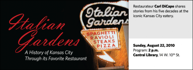 Restaurateur Carl DiCapo shares stories from his five decades at the iconic Kansas City eatery.
