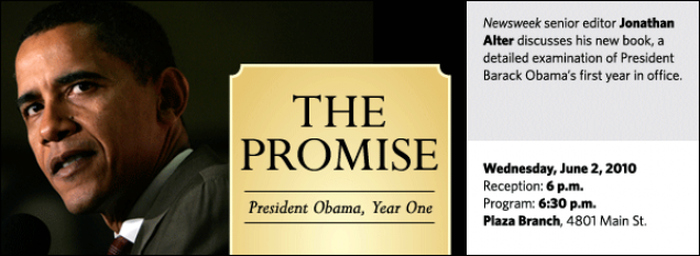 Newsweek senior editor Jonathan Alter discusses his new book, a detailed examination of President Barack Obama's first year in office.