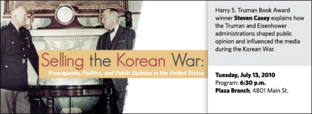 Harry S. Truman Book Award winner Steven Casey explains how the Truman and Eisenhower administrations shaped public opinion and influenced the media during the Korean War.