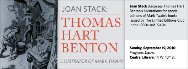 Joan Stack discusses Thomas Hart Benton's illustrations for special editions of Mark Twain's books issued by The Limited Editions Club in the 1930s and 1940s.