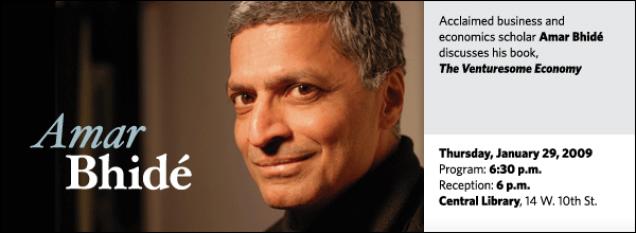 Amar Bhidé: The  Venturesome Economy