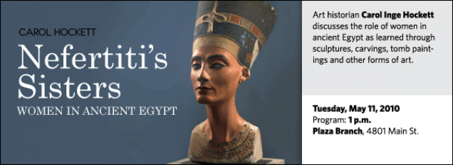 Art historian Carol Inge Hockett discusses the role of women in ancient Egypt as learned through sculptures, carvings, tomb paintings and other forms of art.