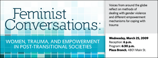 Feminist Conversations: Women, Trauma, and Empowerment in Post-Transitional Societies