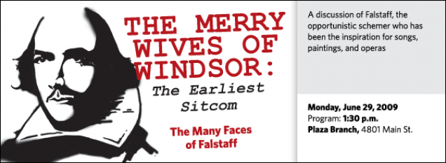 A discussion of Falstaff, the  opportunistic schemer who has been the inspiration for songs, paintings, and operas